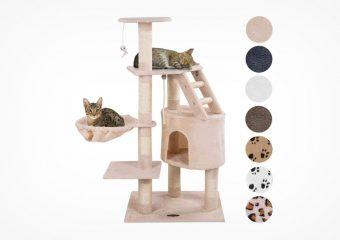 Happypet CAT017-4 Kratzbaum mit Schlafhöhle